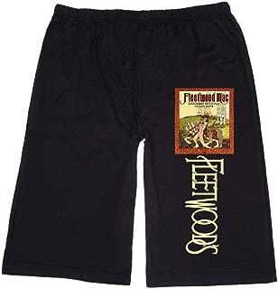 XJX Men's Fleetwood mac Band Poster Lounge Breeches Shorts Pants
