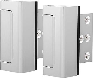 """Home Security Door Lock, Childproof Door Reinforcement Lock with 2"""" Stop 8 Screws Withstand 800 lbs for Inward Swinging Do..."""