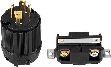 4 Pin Generator Plug & Socket Set,NEMA L14-30 Generator RV AC 125V-250V 30A Plug & Socket Male & Female Receptacle Set