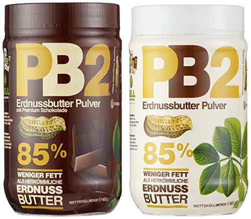 Bell Plantation PB2 Peanut Butter (Powdered) Mix Pack (Original und Chocolate), 1er Pack (1 x 907 g)