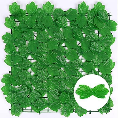 Window Künstliche Efeu Hecke, Sichtschutz-Gefälschte Pflanze Hängen Rattan Blatt Zaun Netz Anti-Ultraviolett, Balkon Patio Zaun Garten Wanddekoration(Grün 1 M × 3 M)