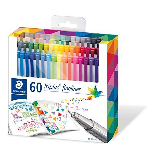 STAEDTLER 334 C60 triplus fineliner 60 brilliant colours - 0.3mm line...