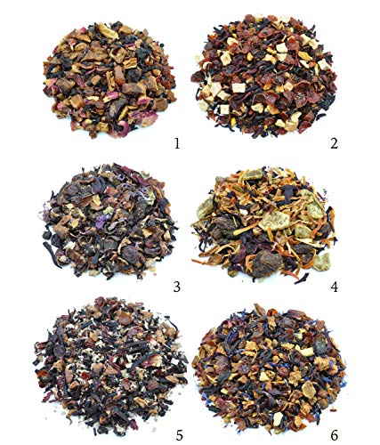 REAL FRUIT TEA SAMPLERS - 6 Ounce Total - Delicious Vegan All Natural Flavors Assortment of Loose Leaf Tea - Hot or Iced - No Artificial Flavors by Prime Tea (Perfect Fruit Tea #1)
