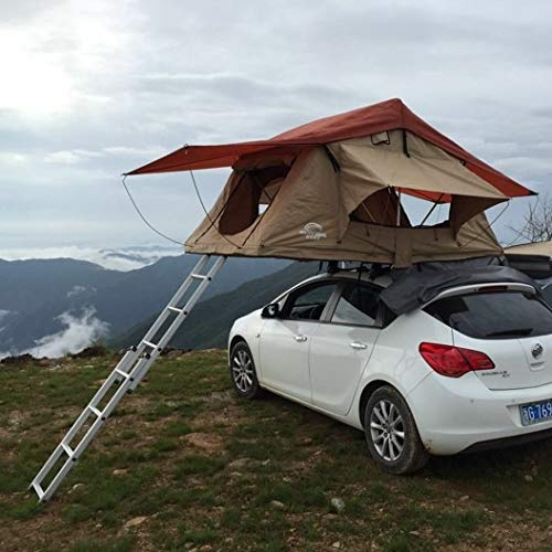 Touralite Rooftop Tent for Car Vehicle for Camping & Outdoors Universal Fit (Khaki)