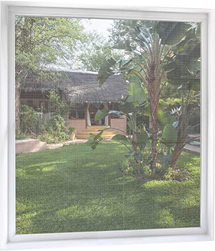 MYCARBON Fliegengitter Fenster 2-er Set 130 * 155cm | Zuschneidbar ohne Bohren Klebmontage | Weiß Durchsichtig | Insektenschutz Fenster Fliegenvorhang Moskitonetz