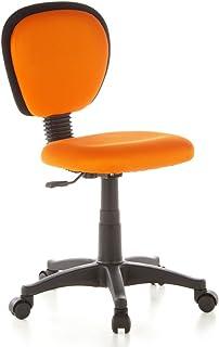 hjh OFFICE 670140 skrivbordsstol för barn KIDDY TOP tyg orange barn-vridstol ergonomisk, justerbar höjdjusterbar
