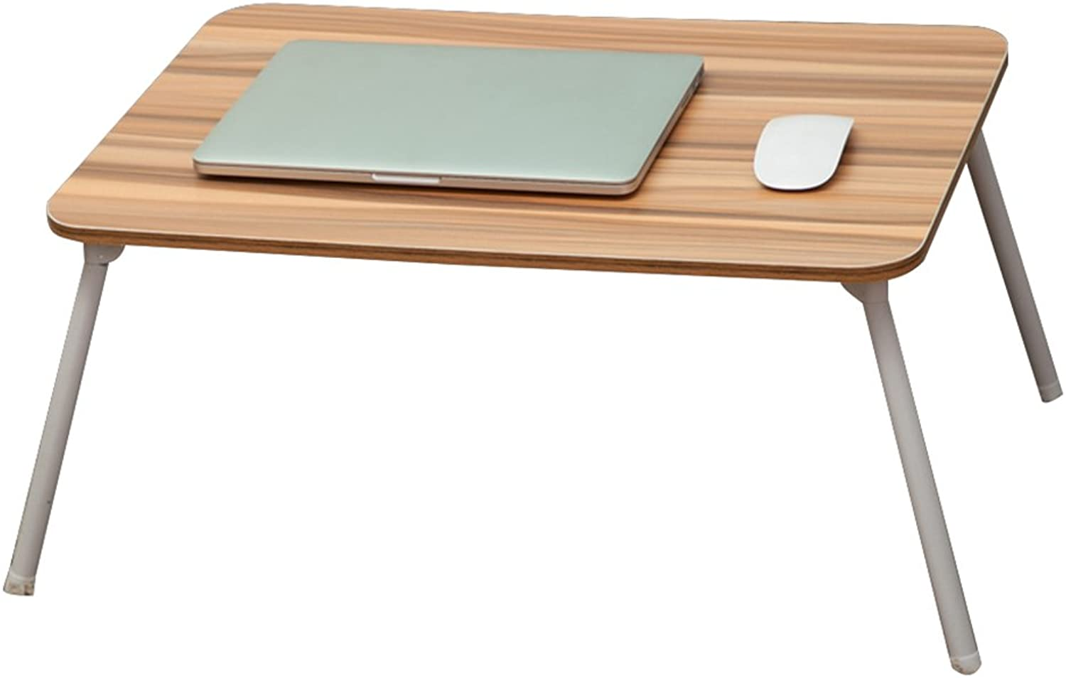 HAIPENG Small Foldable Tables Computer Notebook Lazy Desk Bedside Table Wooden Dormitory Home (color   1 , Size   60x40x29cm)