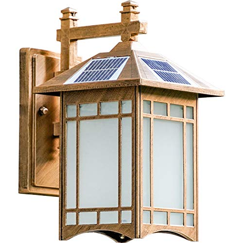 Retro Industrial Wall lamp Outdoor Waterproof Solar LED Wall Light Suitable for Balcony, Corridor, Staircase.