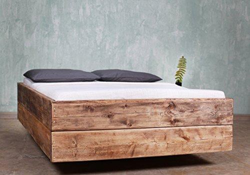 Bauholz Bett Cucuron Mittelbraun