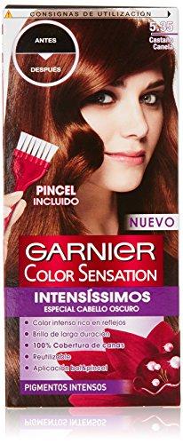 Garnier Color Sensation - Tinte Permanente Castaño Canela 5.35, disponible en más de 20 tonos