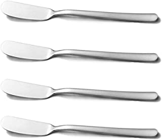 HouseHoo Cheese Spreaders, Stainless Steel Classic Spreader Knife Set for Cheese, Jelly, Jam, Dessert, Set of 4 Canape Knives, Spreaders for Appetizers, Sandwich Cream Cheese Butter Knife