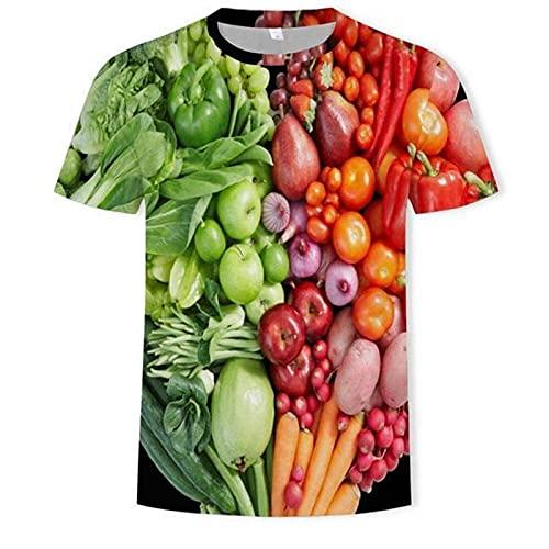 LIZONGFQ 2021 Nueva Camiseta 3D Cerveza para Hombres/Hamburguesa/Poker Hip-Hop O-Cuello de Manga Corta para Hombres/Mujer Camiseta de la Camiseta Top de la Camiseta,9,L