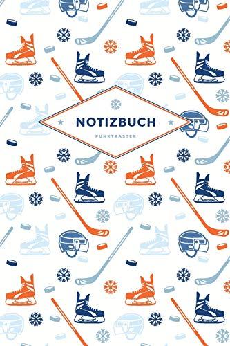 Notizbuch Punktraster: Für Eishockey Fans und Spieler | 100 Blanko Seiten | Mit coolem Ice Hockey Design am Umschlag | Soft Cover