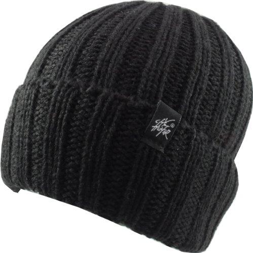 Revive Online City Hunter - Sombrero de punto retro, color negro