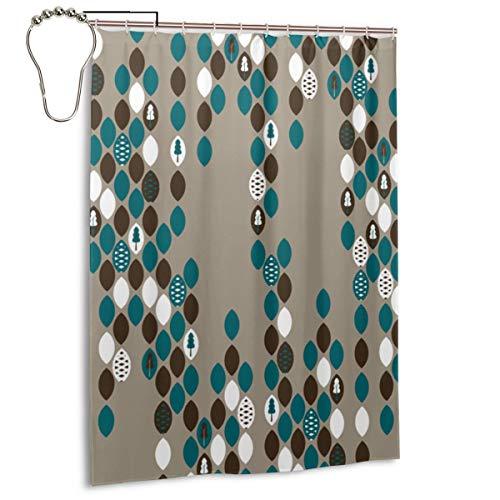 PlaceHeart Zapfen Samen Duschvorhänge für Badezimmerduschen und Badewannen 140 x 183 cm