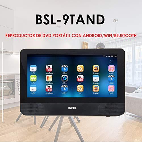 17,8 cm (9 Zoll) tragbarer DVD-Player für Auto BSL-9TANDX | Touchscreen | mit Bluetooth und WiFi-Verbindung | 1GB RAM 8GB ROM | HDMI, Micro USB Lade- und Datenslot für microSD |
