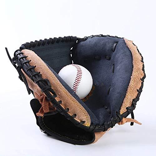 Lwieui Guante de béisbol Deportes al Aire Libre Marrón Béisbol Catcher Guante Softbol Equipo de práctica Tamaño 12.5 Mano Izquierda para Entrenamiento de Adultos (Color : Marrón, Size : 30x22cm)