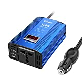 GIANDEL 300W Invertitore di Potenza Convertitore da 12V a 220V 230V con 2 Porte USB, Power Inverter per Auto (Onda Sinusoidale Modificata con Multi Protezioni,Display a LED)