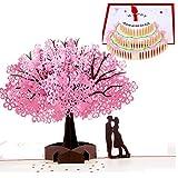SLOSH 2 Biglietto d'Auguri Matrimonio Carta 3D Pop-up d'Amore per Compleanno Romantico e p...