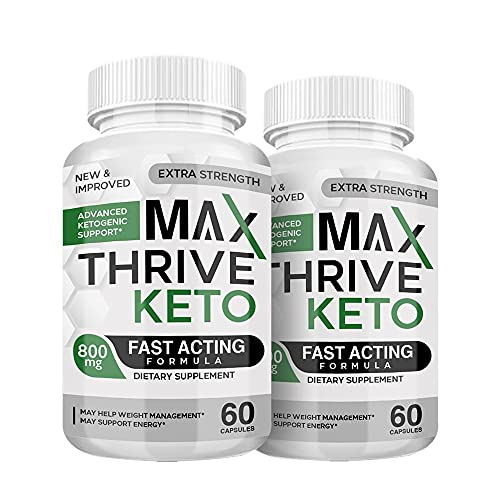(2 Pack) Max Thrive Keto Pills - Max Thrive Keto Advanced Weight Management Support - Max Thrive Keto 800MG Bottle (120 Pills - 2 Month Supply)