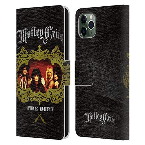 Head Case Designs Oficial Motley Crue The Dirt Frame Key Art Carcasa de Cuero Tipo Libro Compatible con Apple iPhone 11 Pro MAX