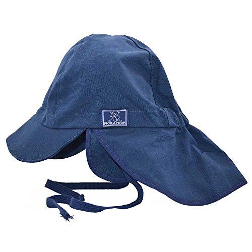 PICKAPOOH Baby/Kinder Sonnenhut/Sonnenmütze Tom mit UV-Schutz aus Reiner Bio-Baumwolle, Marine Gr. 54