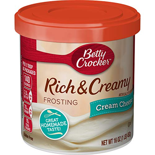Betty Crocker Rich & Creamy Frosting, Cream Cheese, 16 oz