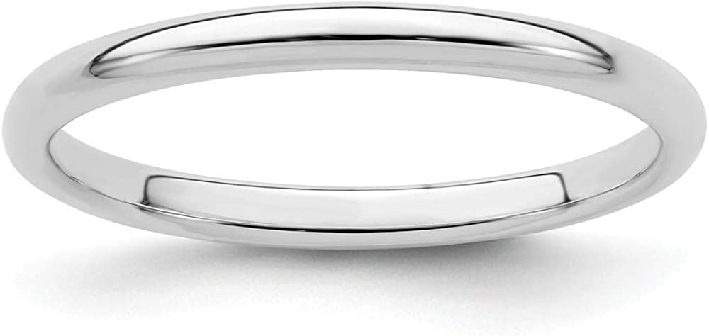 925 Sterling Silver 2mm Half Round Ring Wedding Band Dom Trust Classic Regular dealer