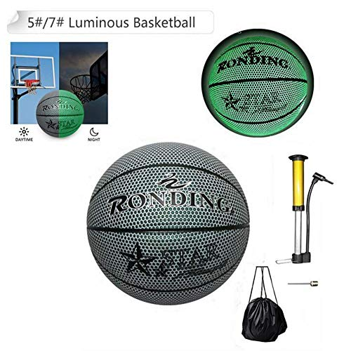 Best Deals! 5# or 7# Light Up Basketball Glowing Basketball with Ball Bag and Pump, Shining at Night...