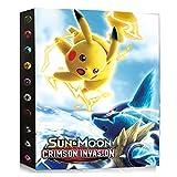 Archivador compatible con tarjetas Pokemon, carpeta de tarjetas, álbum compatible con las tarjetas Pokemon, cubierta de tarjeta para coleccionar, 24 páginas contiene 432 tarjetas (DKC-10).