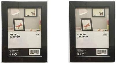 إطار IKEA FISKBO 5x7 بوصة مجموعة متنوعة من الألوان للاختيار من بينها (مجموعة من إطارين) (أسود)