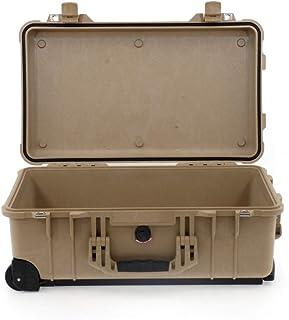 PELI 1510 Maleta Trolley Resistente a los Impactos para Material fotográfico y Audiovisual, IP67 estanca e Impermeable al Polvo, 27L de Capacidad, Fabricada en Alemania, sin Espuma, Beige