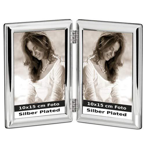 silberkanne Occasions Direct Frames - Cornice portafoto placcata Argento, 2 x 10 x 15 cm