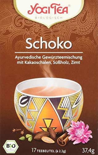 Yogi Tea - Schoko - Gewürzeteemischung mit Kakaoschalen, Süßholz und Zimt - 37,4 g