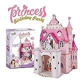 Puzzle 3D Princess Birthday Party - Casa De Muñecas para Niñas Infantil, Puzzles 3D Casas De Muñecas para Niñas, 95 Piezas, 524 Pegatinas de Cristal, 5 Años O Más