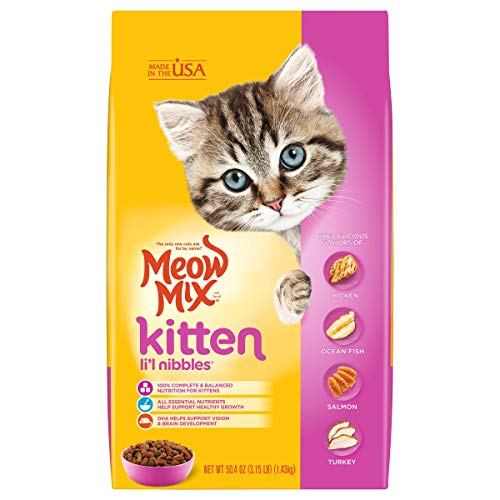 Meow Mix Kitten Li'L Nibbles Dry Cat Food, 3.15 Pounds