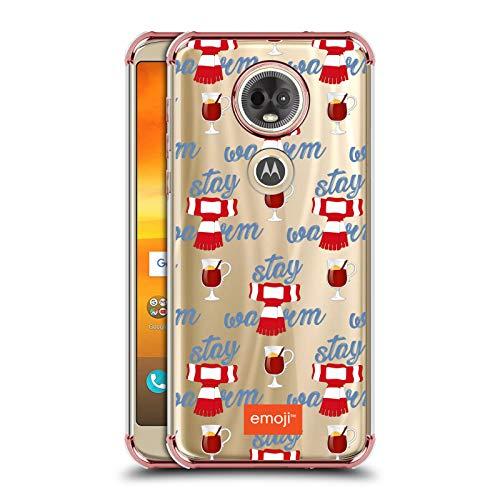 Officiële emoji® Sjaal Winter Wonderland Rose Shockproof Fender Case Compatibel voor Motorola Moto E5