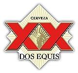 SkyBug Dos Equis Cerveza XX Red Mexican Beer Bumper Sticker Vinyl Art Decal for Car Truck Van Window Bike Laptop
