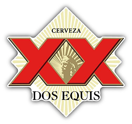 SkyBug Dos Equis Cerveza XX Red Mexican Beer Bumper Sticker Vinyl Art Decal for Car Truck Van Window Bike Laptop
