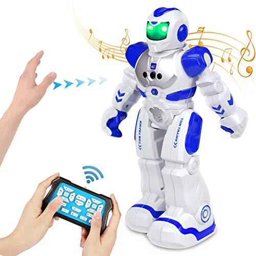 FORMIZON Intelligente Roboter, Roboter Spielzeug, Gestenerkennung Roboter mit Infrarot-Controller, LED Licht und Musik, Intelligent Programmierbar Roboter mit Aufladbare Batterie für Kinder