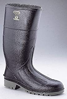 Iron Duke Knee Boots - PVC Upper Material, Fleece Liner, Black Color, 7 Size