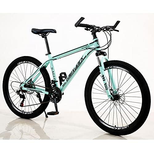 Aluminiumlegierung Mountainbike, Fahrrad, Innenlinie, Ölbremse Dämpfer, Mountainbike-Grün_27 Geschwindigkeitverstellbarer Sitz