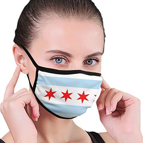 Vlag van Chicago jongens en meisjes bedrukken winddichte wasbare herbruikbare mondkleding om te wandelen