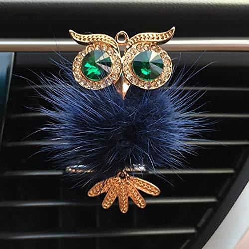 Leyingds Car Decoration Fur Owl Car Auto Outlet Clip Scent Car Accessories Interior Decor Gifts (Color Name : Blue)