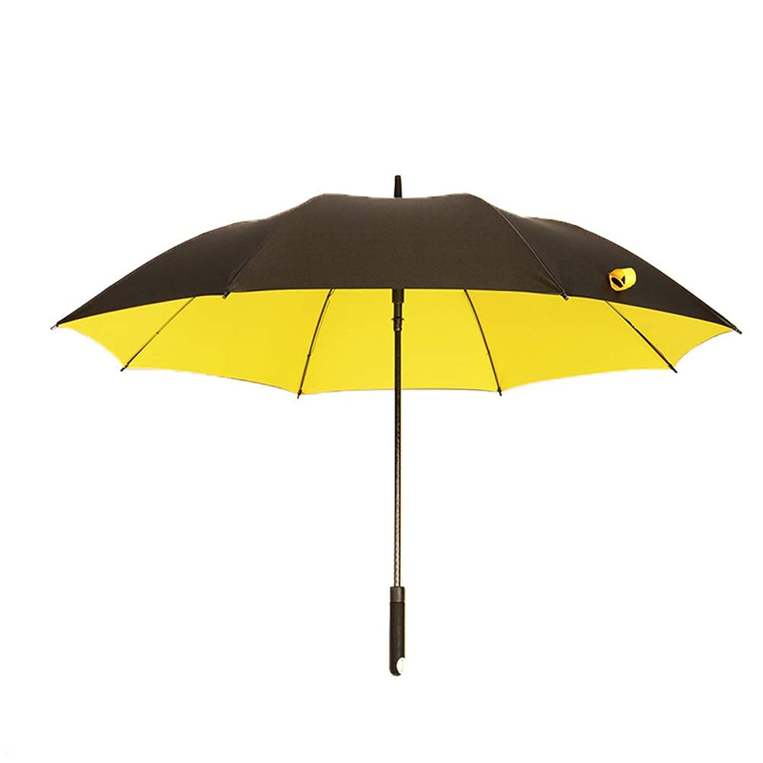 適応する海里思慮のないオートオープン商務防風旅行バンドル傘二重層傘ビッグキャノピー人間工学に基づいたハンドル ポータブル防風強化日焼け止め傘 (Color : イエロー, Size : フリー)
