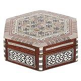 Casa Moro | Caja de joyería oriental Saham con incrustaciones de nácar real - Caja de Schmuk hecha a mano - Idea original de regalo para el día de la madre | sd6