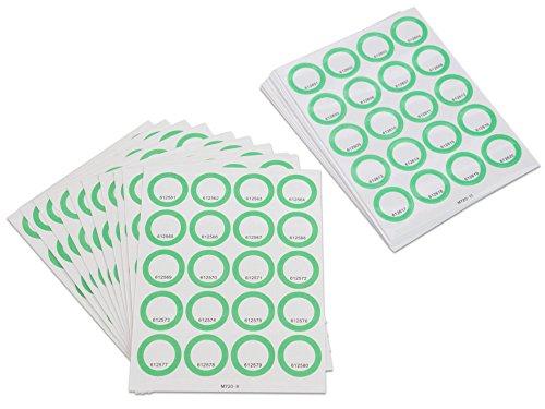Sticker-Set grün für Anybook Audiostift (Franklin DRP5100 mit Anybook-Case Software) 400 Aufkleber Codes, je 200 transparent und 200 weiß