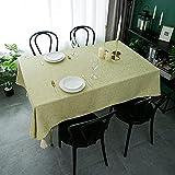 NHhuai Cubierta de Mesa de Simples Adecuado para la decoración de cocinas caseras, Varios tamaños Pequeño Jacquard Fresco de algodón y Lino