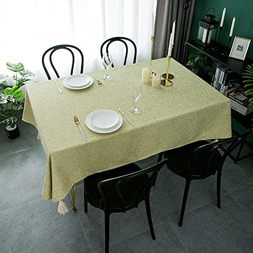 NHhuai Tovaglia, tovaglia in Lino di Cotone Tovaglie di Pizzo macramè Cotone e Lino Piccolo Jacquard Fresco