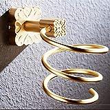 PYROJEWEL Pared Estante secador de Pelo Aluminio del Espacio de Oro montado baño Secador de Estante Soporte de secador de Pelo de Pelo Secador de Pelo